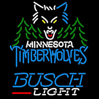 Busch Light Minnesota Timberwolves NBA Beer Sign Neon Sign