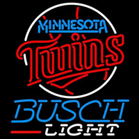 Busch Light Minnesota Twins MLB Beer Sign Neon Sign