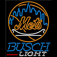 Busch Light New York Mets MLB Beer Sign Neon Sign