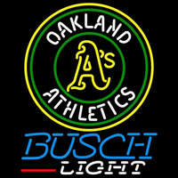 Busch Light Oakland Athletics MLB Beer Sign Neon Sign