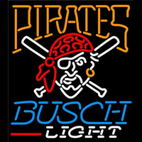 Busch Light Pittsburgh Pirates MLB Beer Sign Neon Sign