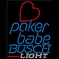 Busch Light Poker Girl Heart Babe Beer Sign Neon Sign
