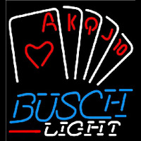 Busch Light Poker Series Beer Sign Neon Sign