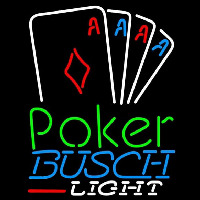 Busch Light Poker Tournament Beer Sign Neon Sign