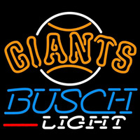 Busch Light San Francisco Giants MLB Beer Sign Neon Sign