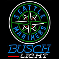 Busch Light Seattle Mariners MLB Beer Sign Neon Sign