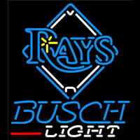Busch Light Tampa Bay Rays MLB Beer Sign Neon Sign