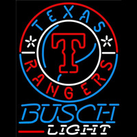 Busch Light Texas Rangers MLB Beer Sign Neon Sign