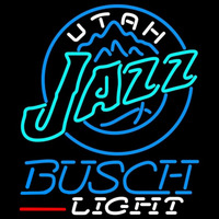Busch Light Utah Jazz NBA Beer Sign Neon Sign