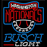 Busch Light Washington Nationals MLB Beer Sign Neon Sign