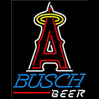 Busch Los Angeles Angels of Anaheim MLB Beer Sign Neon Sign