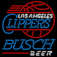 Busch Los Angeles Clippers NBA Beer Sign Neon Sign