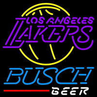 Busch Los Angeles Lakers NBA Beer Sign Neon Sign