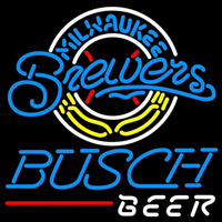 Busch Milwaukee Brewers MLB Beer Sign Neon Sign