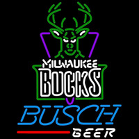 Busch Milwaukee Bucks NBA Beer Sign Neon Sign
