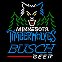 Busch Minnesota Timberwolves NBA Beer Sign Neon Sign
