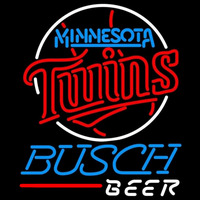 Busch Minnesota Twins MLB Beer Sign Neon Sign