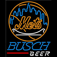 Busch New York Mets MLB Beer Sign Neon Sign