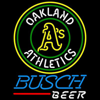 Busch Oakland Athletics MLB Beer Sign Neon Sign