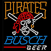 Busch Pittsburgh Pirates MLB Beer Sign Neon Sign