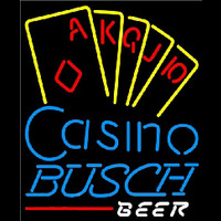Busch Poker Casino Ace Series Beer Sign Neon Sign