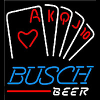 Busch Poker Series Beer Sign Neon Sign