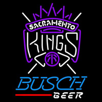 Busch Sacramento Kings NBA Beer Sign Neon Sign