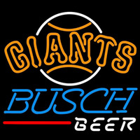 Busch San Francisco Giants MLB Beer Sign Neon Sign