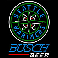 Busch Seattle Mariners MLB Beer Sign Neon Sign