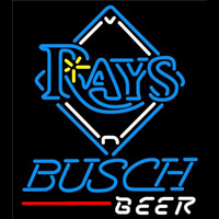Busch Tampa Bay Rays MLB Beer Sign Neon Sign