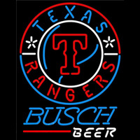 Busch Texas Rangers MLB Beer Sign Neon Sign