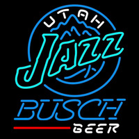 Busch Utah Jazz NBA Beer Sign Neon Sign