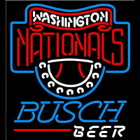 Busch Washington Nationals MLB Beer Sign Neon Sign