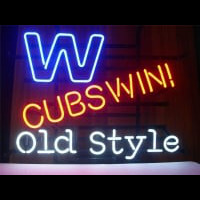 CHICAGO CUBS WIN W OLD STYLE BAR PUB Neon Sign