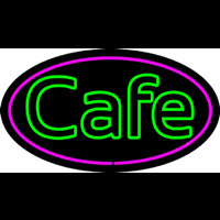 Cafe Oval Neon Sign