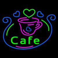 Cafe With Cup Neon Sign