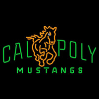 Cal Poly Mustangs Primary 1999 Pres Logo NCAA Neon Sign Neon Sign