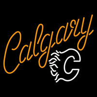 Calgary Flames Alternate 2013 14 Pres Logo NHL Neon Sign Neon Sign