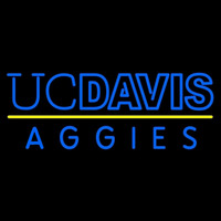 California Davis Aggies Wordmark 2001 Pres Logo NCAA Neon Sign Neon Sign