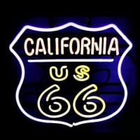 California Route 66 Neon Sign