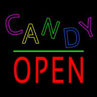 Candy Block Open Green Line Neon Sign