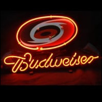 Carolina Hurricanes Hockey Budweiser Beer Bar Neon Sign