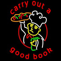 Carry Out A Good Book Neon Sign