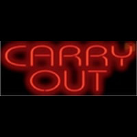 Carry Out Barbeque Neon Sign