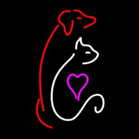 Cat Dog Logo Pet Clinic Neon Sign