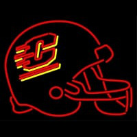 Central Michigan Chippewas Helmet Pres Logo NCAA Neon Sign Neon Sign
