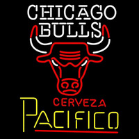 Cerveza Pacifico Chicago Bulls NBA Beer Sign Neon Sign