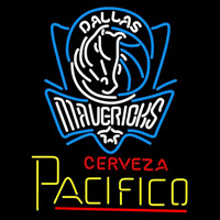 Cerveza Pacifico Dallas Mavericks NBA Beer Sign Neon Sign