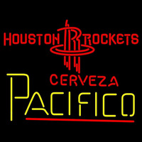 Cerveza Pacifico Houston Rockets NBA Beer Sign Neon Sign