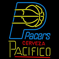 Cerveza Pacifico Indiana Pacers NBA Beer Sign Neon Sign